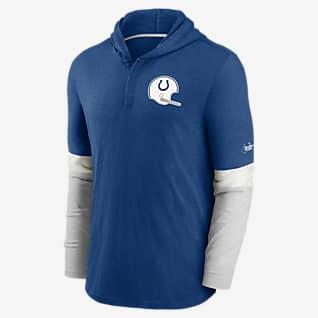 Nike Historic (NFL Colts) Men's Long-Sleeve Hooded Henley
