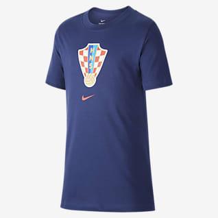 Croatia Older Kids' Football T-Shirt