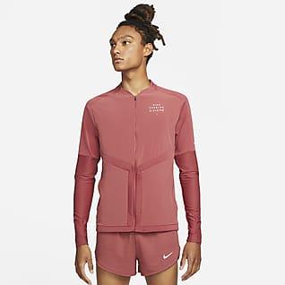 Nike Dri-FIT Element Run Division Camiseta de running de cierre completo para hombre