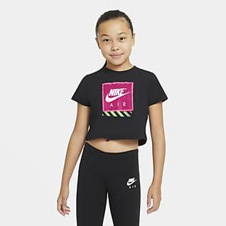 Nike Air 大童 (女童) 短版 T 恤