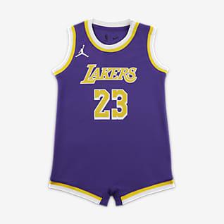 洛杉矶湖人队 (LeBron James) Statement Edition Jordan NBA Swingman Jersey 婴童连体衣