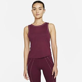 Nike Yoga Dri-FIT เสื้อกล้าม PJ พิมพ์ลายผู้หญิง