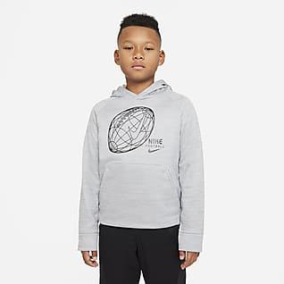 Nike Therma Sudadera con capucha de fútbol para niño talla grande