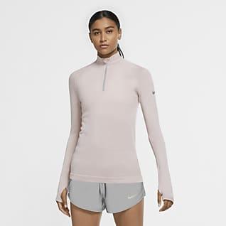 Nike Run Division Camisola de running de lã com fecho até meio para mulher