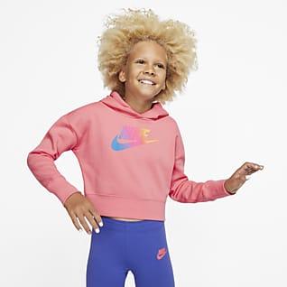 Nike Sportswear Bluza z kapturem o krótszym kroju dla dużych dzieci (dziewcząt)