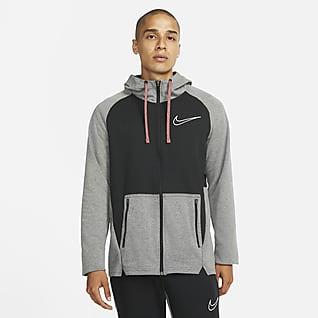 Nike Therma-FIT Ανδρική μπλούζα προπόνησης με κουκούλα και φερμουάρ σε όλο το μήκος