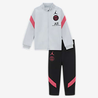 Paris Saint-Germain Strike Strikket fotballtracksuit til spedbarn