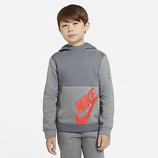 Nike Sportswear Sudadera con capucha sin cierre para niño talla grande
