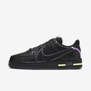 Black Air Force 1 Shoes. Nike DK