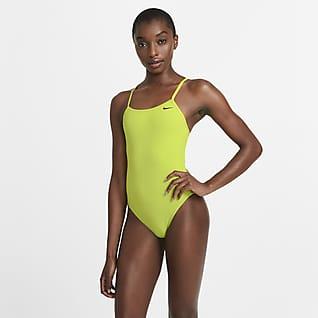 Nike Lace-Up Tie-Back Women's 1-Piece Swimsuit