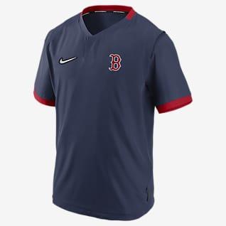 Nike Hot (MLB Boston Red Sox) Men's Short-Sleeve Jacket