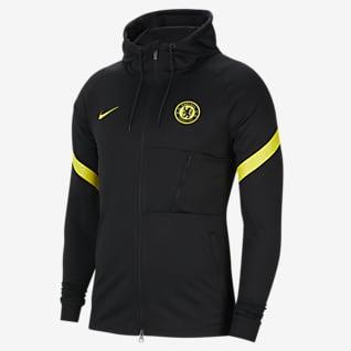 Chelsea F.C. Strike Men's Nike Dri-FIT Knit Football Tracksuit Jacket