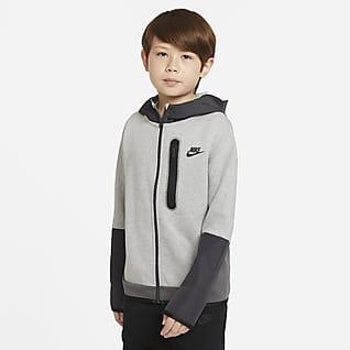 Nike Sportswear Tech Fleece Sudadera con capucha de cierre completo de tejido Woven para niño talla grande