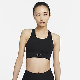 Nike Swoosh Women's Medium-Support 1-Piece Pad Longline Sports Bra
