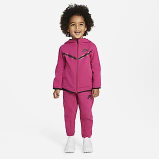 Nike Sportswear Tech Fleece Σετ μπλούζα με κουκούλα και φερμουάρ και παντελόνι για νήπια