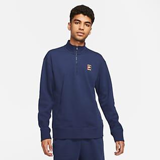Nike SB Koszulka z grafiką i zamkiem 1/2 do skateboardingu
