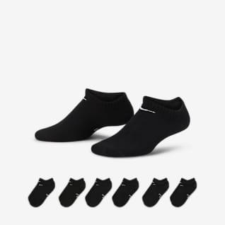 Nike Performance Lightweight No-Show Calcetines de entrenamiento para niños (6 pares)