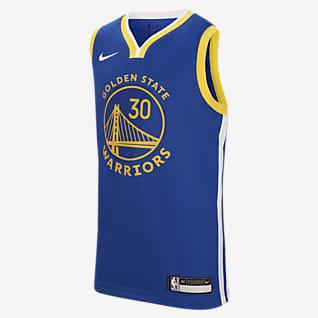 Warriors Icon Edition Nike NBA Swingman-trøje til store børn