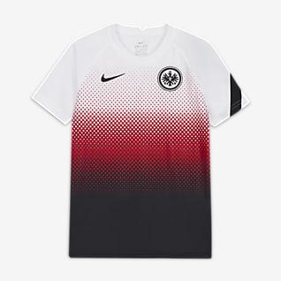 Eintracht Frankfurt Camiseta de fútbol de manga corta para antes del partido para niños talla grande