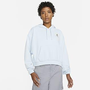 Jordan Essentials Felpa in fleece con cappuccio - Donna