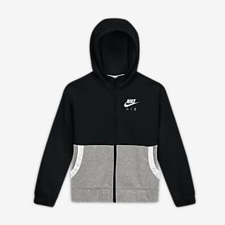 Nike Air Sudadera con capucha de cierre completo para niña talla grande