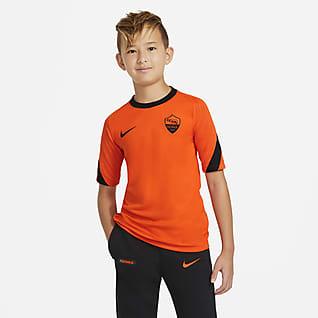 AS Roma Strike Camiseta de fútbol de manga corta para niños talla grande