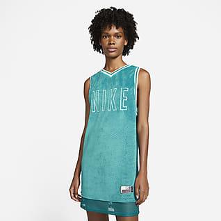 Serena Design Crew Tennistrikot-Kleid für Damen