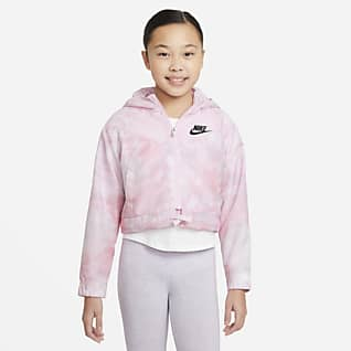 Nike Sportswear Windrunner Big Kids' (Girls') Tie-Dye Printed Jacket