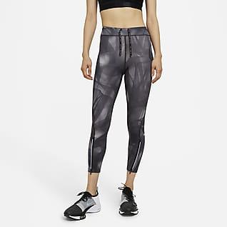 Nike Epic Faster Run Division เลกกิ้งวิ่งเอวปานกลาง 7/8 ส่วนผู้หญิง