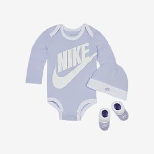 Nike Conjunto de body, gorro y calzado para bebés (6 a 12 meses)