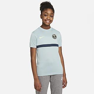 Club América Academy Pro Camiseta de fútbol de manga corta para niños talla grande