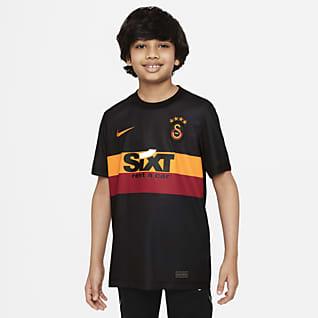 Galatasaray idegenbeli Nike Dri-FIT rövid ujjú futballfelső nagyobb gyerekeknek