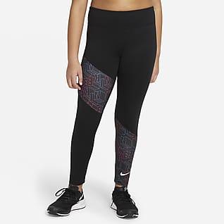 Nike Trophy Big Kids' (Girls') Printed Training Leggings (Extended Size)