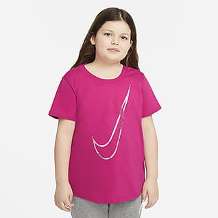 Nike Sportswear Playera para niñas talla grande (talla extendida)