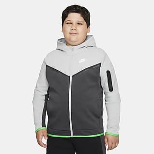 Nike Sportswear Tech Fleece Big Kids' (Boys') Full-Zip Hoodie (Extended Size)
