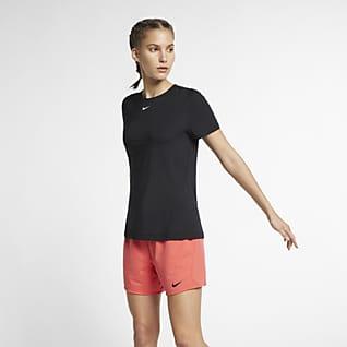 Nike Pro Trainingstop met korte mouwen voor dames