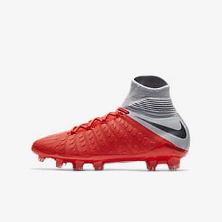 Nike Jr. Hypervenom III Elite Dynamic Fit FG Fodboldstøvle til store børn (fast underlag)