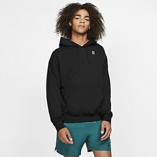 NikeCourt Ανδρική φλις μπλούζα τένις με κουκούλα