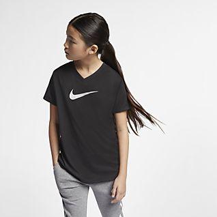 Nike Dri-FIT Swoosh mintás edzőpóló nagyobb gyerekeknek