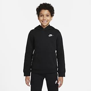 Nike Sportswear Club Kapucnis, belebújós pulóver nagyobb gyerekeknek