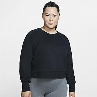 Nike Dri-FIT Luxe Γυναικεία μακρυμάνικη μπλούζα προπόνησης (μεγάλα μεγέθη)