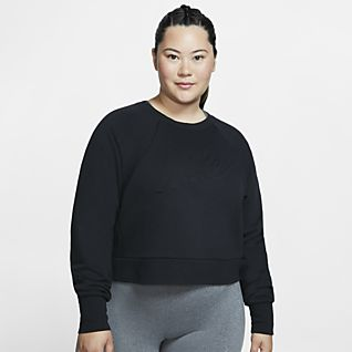 Nike Dri-FIT Luxe Женская футболка для тренинга с длинным рукавом (большие размеры)