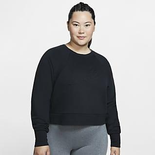 Nike Dri-FIT Luxe Trainingstop met lange mouwen voor dames (grote maten)