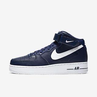 Nike air force mid wysokie 36,5 białe niebieskie czerowe