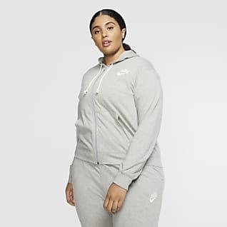Nike Sportswear Sudadera con capucha de cierre completo para mujer (talla grande)