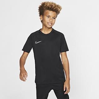 Nike Dri-FIT Academy Prenda para la parte superior de fútbol de manga corta para niños talla grande