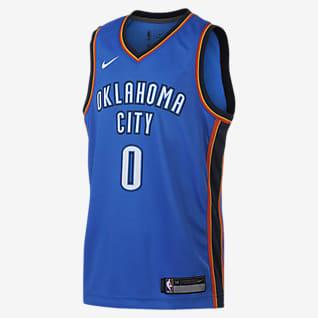 Russell Westbrook Oklahoma City Thunder Nike Icon Edition Swingman Koszulka NBA dla dużych dzieci