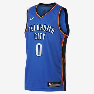 Russell Westbrook Oklahoma City Thunder Nike Icon Edition Swingman NBA-s mez nagyobb gyerekeknek