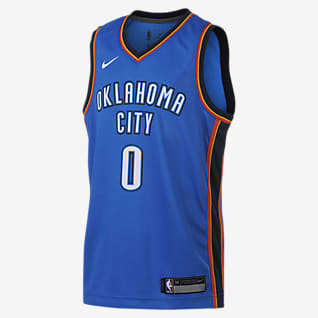 Russell Westbrook Oklahoma City Thunder Nike Icon Edition Swingman NBA-trøje til store børn