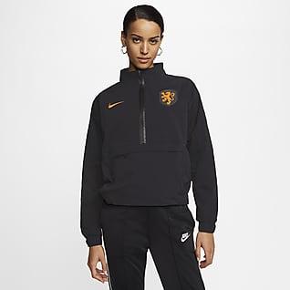 Pays-Bas Haut de football à 1/4 de zip pour Femme